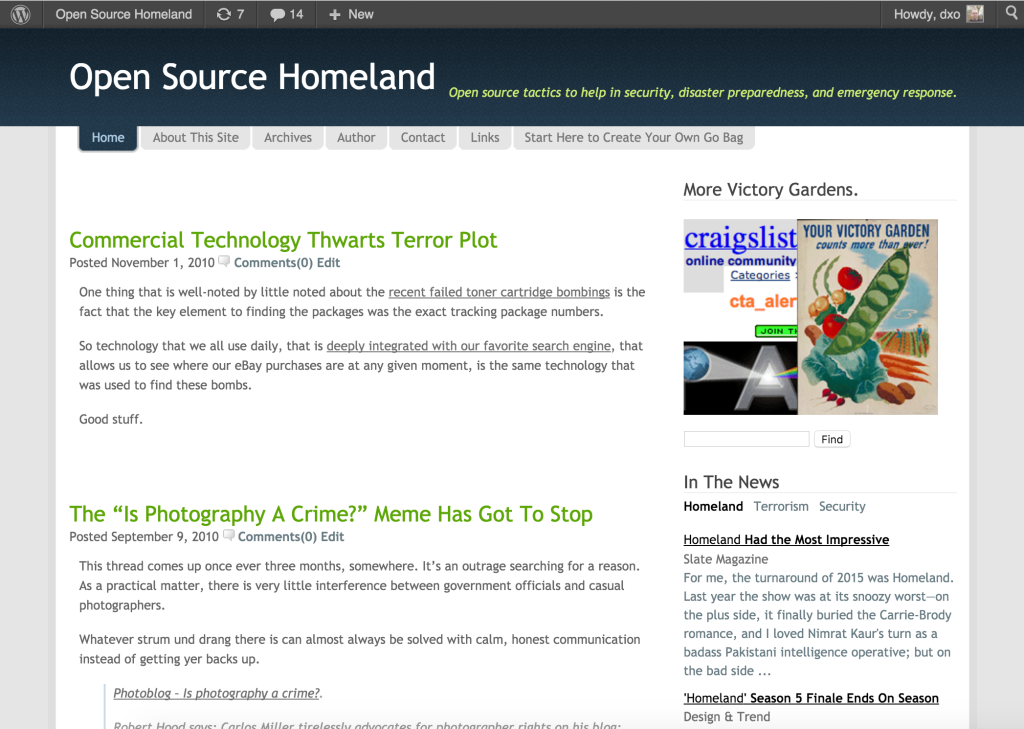 Open Source Homeland
